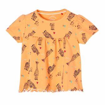 Baby-T-Shirt mit niedlichen Tiermotiven