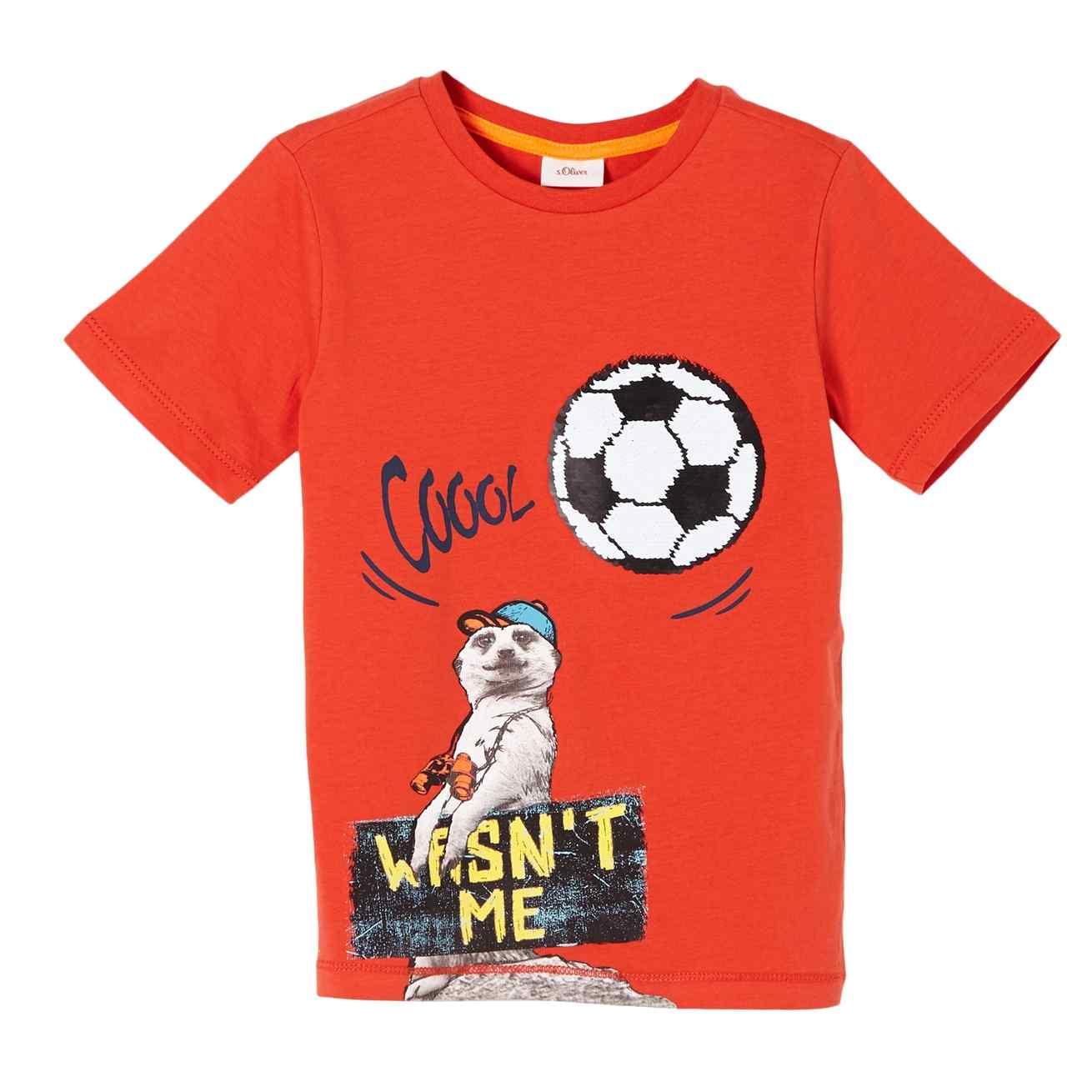Boys T-Shirt mit Wendepailletten-Motiv