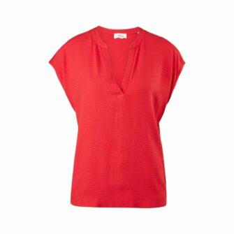 Feminines Jerseyshirt mit Blusenfront