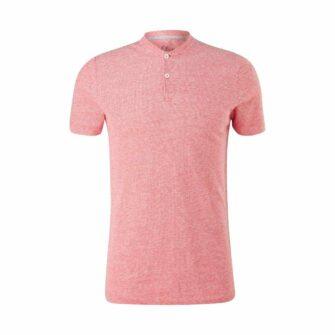 Henley Shirt im Leinenmix