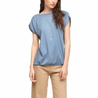 T-Shirt im O-Shape mit U-Boot-Ausschnitt