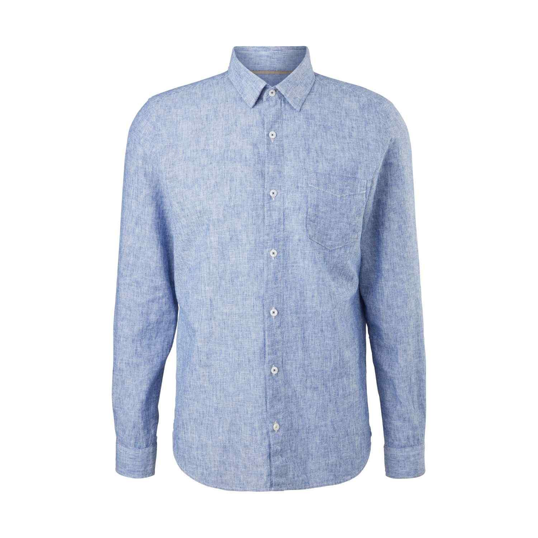 Leinenmix-Hemd im Slim Fit