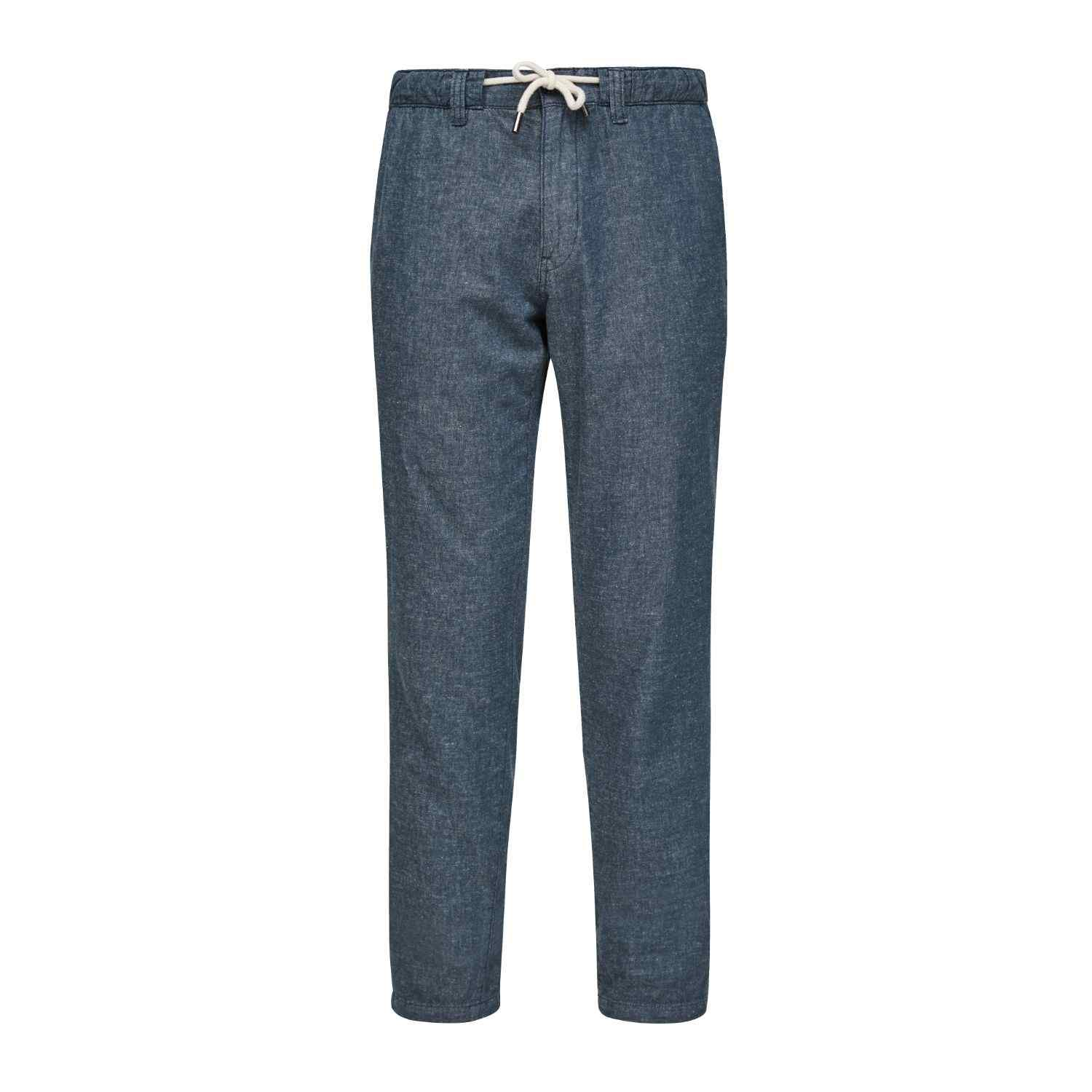 Relaxed Fit Leinen Hose
