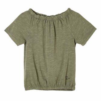 O-Shape-Shirt mit Carmenausschnitt
