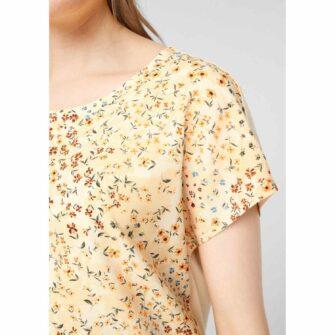 Feminines Jerseyshirt im Blusenstyle
