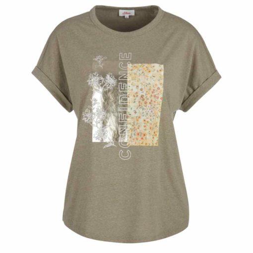 Sommer T-Shirt mit angesagtem Folienprint 1