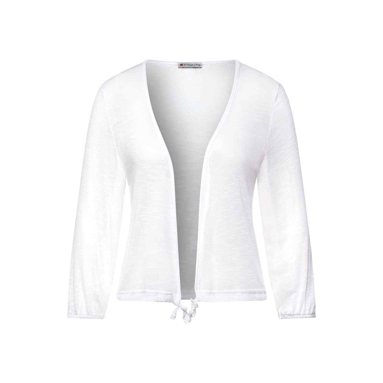 Offene Shirtjacke in semitransparenter Optik