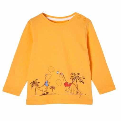 Baby Langarmshirt mit Dino-Print