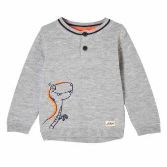Baby Pullover mit Dino Stickerei