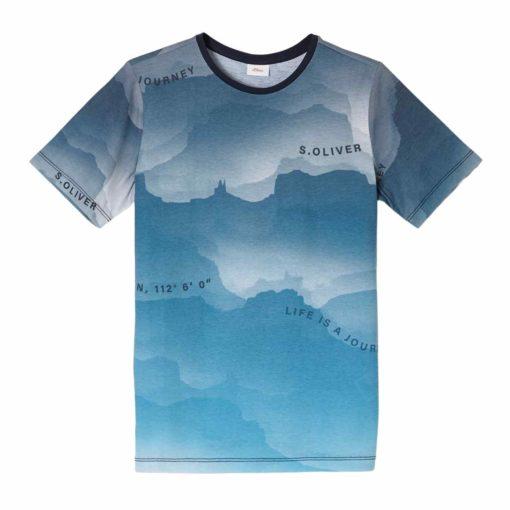 Boys T-Shirt mit Rundum-Print