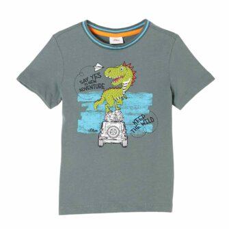 Jerseyshirt mit Dino-Motiv