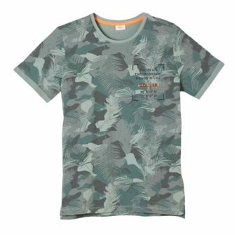 Boys T-Shirt mit Tropical Print