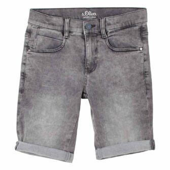 Boys Jeans Shorts in Grey Denim