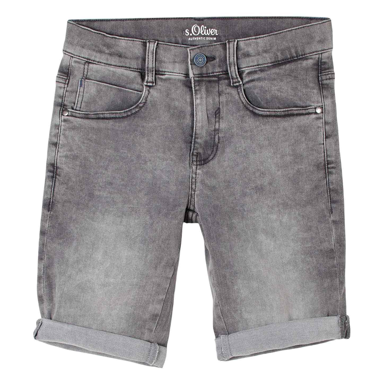 Boys Jeans Shorts in Grey Denim