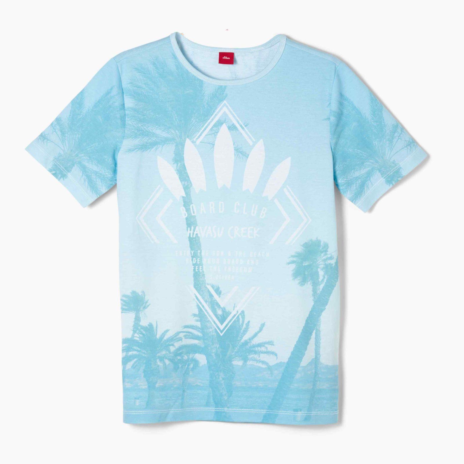 Boys T-Shirt mit Palmen-Print