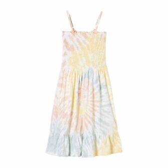 Gesmoktes Kleid im Batik-Look