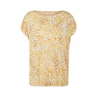 Feminines T-Shirt mit Mille Fleur Print