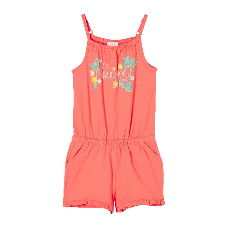 Jersey-Jumpsuit mit Tropical Print