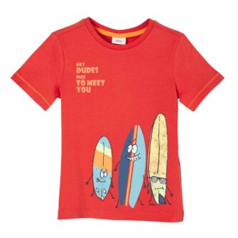 T-Shirt mit witzigem Surfer Motiv