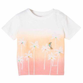 Baby T-Shirt mit Palmen-Stickerei