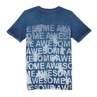 Jungen T-Shirt mit Wording-Print im Used Look