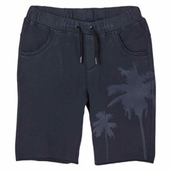 Jersey-Shorts mit Palmen-Print