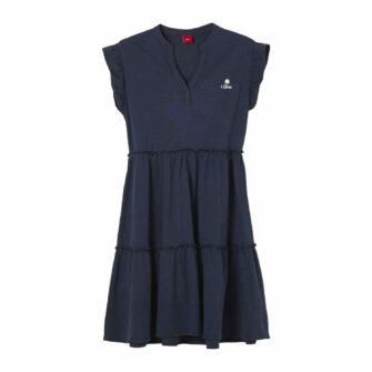 Jersey-Kleid mit Tunika Ausschnitt