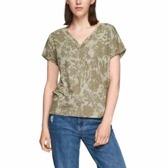 Oversized T-Shirt mit Allover-Print