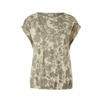 Shirt mit Blumen-Ausbrennermuster