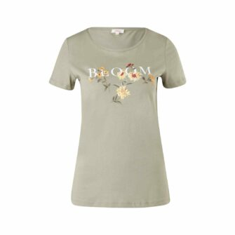 T-Shirt mit femininem Artwork