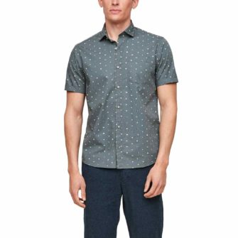Kurzarmhemd mit stylischem Minimalprint