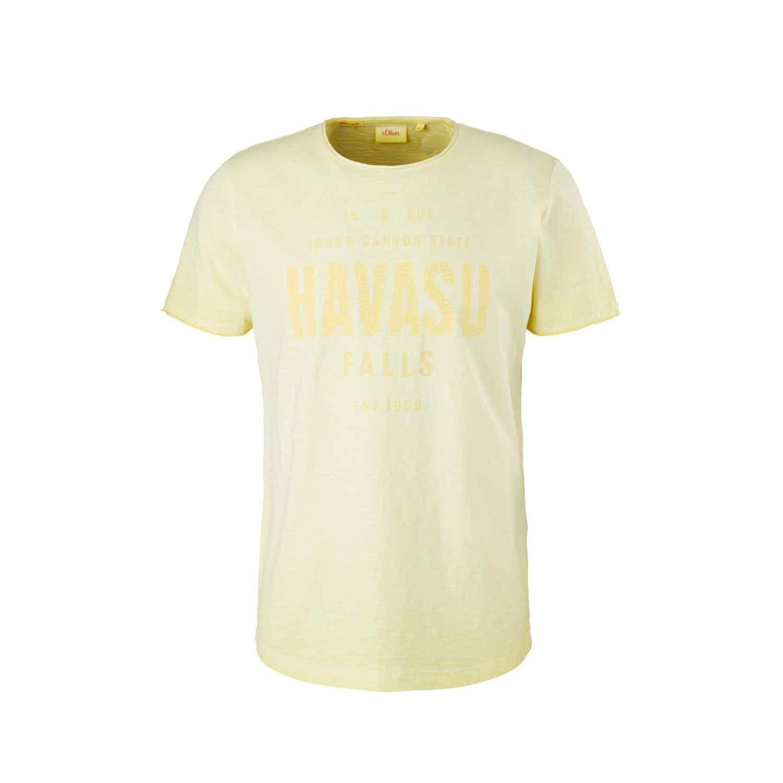 T-Shirt mit Wording Print im Vintage Look