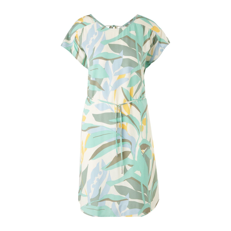 Viskose-Kleid mit Rueckenausschnitt