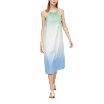 Midi-Kleid mit Farbverlauf aus Baumwolle