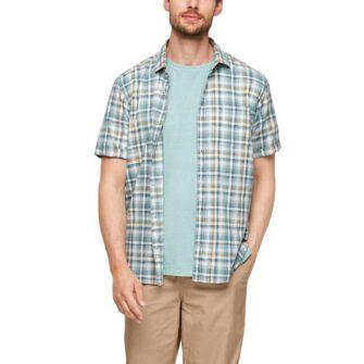 Kariertes Kurzarmhemd in sommerlichen Farben