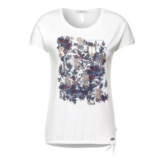 CECIL T-Shirt mit Schleifen Detail