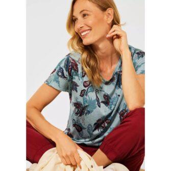 Paisley T-Shirt in Melange Optik von CECIL