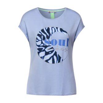 T-Shirt mit Front-Print und Glitzerdetails