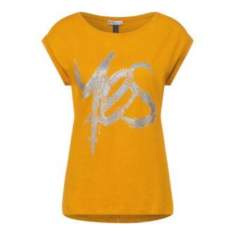 T-Shirt mit Schimmer Print von STREET ONE