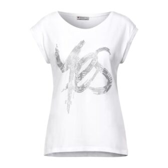 Say Yes - STREET ONE Shirt mit Schimmer Print