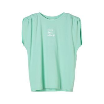 Girls T-Shirt mit Schulter-Raffung