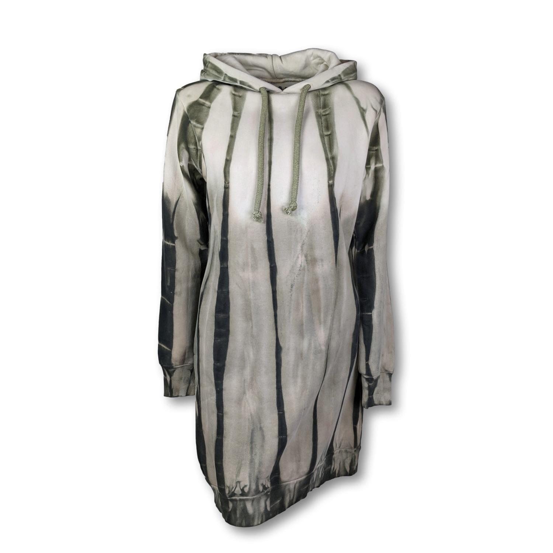 BLAUMAX Kleid Harlem Dress Hooded Tie Dye