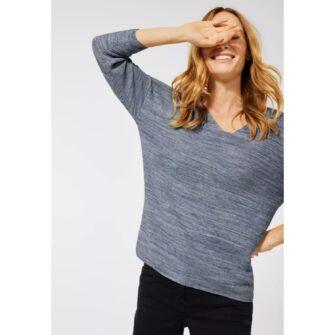 Melange Pullover mit V-Ausschnitt von CECIL