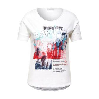 T-Shirt mit coolem Frontprint von CECIL