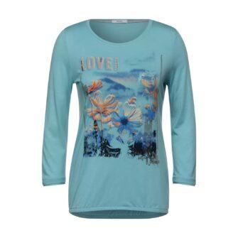 T-Shirt mit Flower Print von CECIL