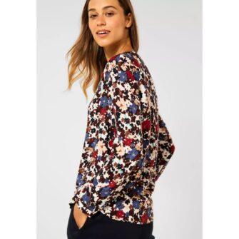 CECIL Bluse mit frischem Blumen Print