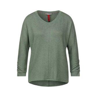 Softes Basic Shirt mit Raffung von STREET ONE