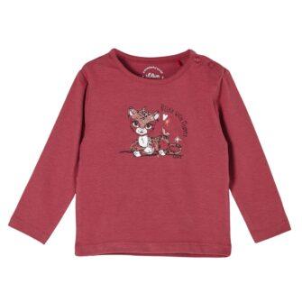 Langarmshirt mit niedlichem Tiger-Print