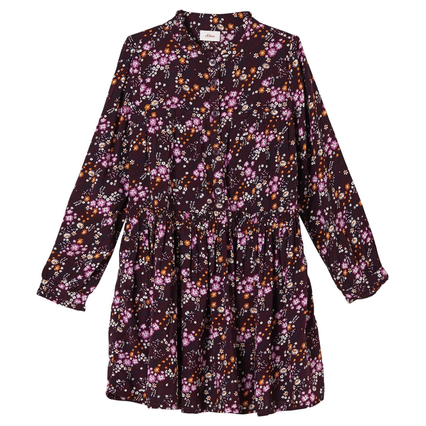 Mille Fleur Kleid mit langem Arm