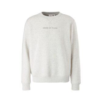 Basic Sweatshirt mit kleinem Wording Print